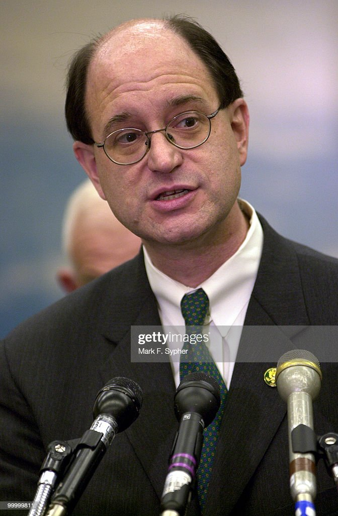 Rep. Bradley J. Sherman (D-CA) speaks Wednesday during a press conference in the Rayburn on a hypothetical catastrophe that could disable Congress, and ways for Americas legislative branch to work if under attack.