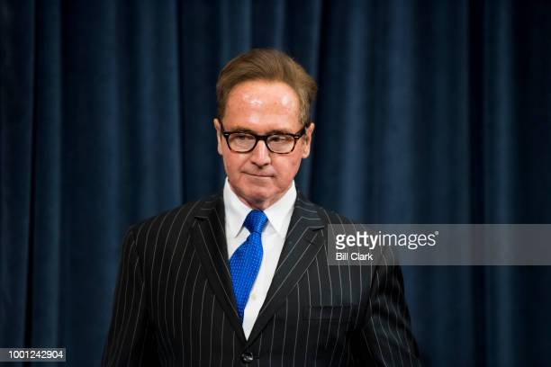 Rep Brian Higgins DNY participates in the House Ways and Means Committee Trade Subcommittee hearing on 'The Effects of Tariffs on US Agriculture and...