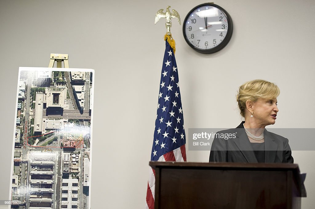 Rep. Carolyn Maloney, D-N.Y., holds a news conference on Thursday, oct. 15, 2009, on the passage of House legislation for the acquisition of land on the National Mall for the National Women's Museum