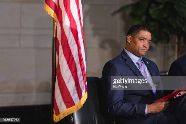 Rep Cedric Richmond chairman of the Black Congressional Caucus cohosts the Commemoration of the Bicentennial of the Birth of Frederick Douglass in...