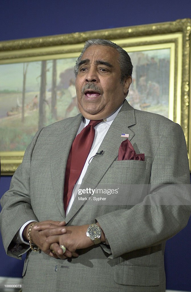Rep. Charles B. Rangel (D-NY), spoke in Rep. Gephardt's dugout, questioning the House Republicans holdout concerning airline security.