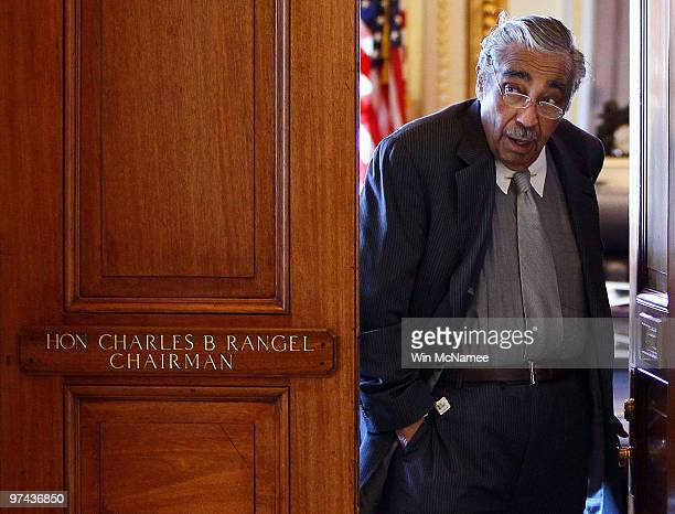 Rep Charles Rangel leaves the House Ways and Means office in the US Capitol March 4 2010 in Washington DC Rep Sandy Levin will replace Rep Rangel and...