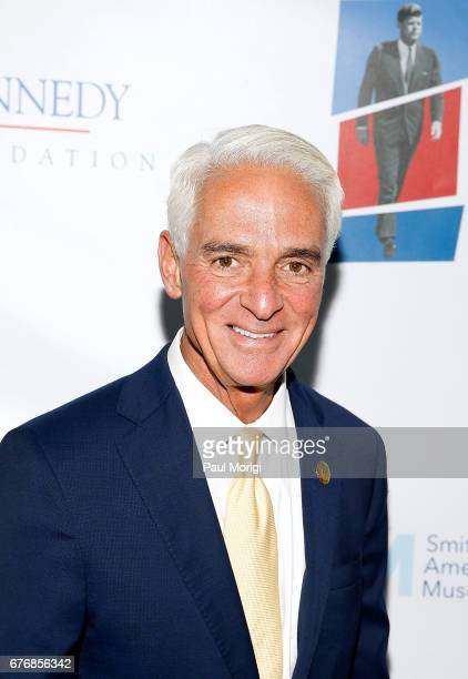 Rep Charlie Crist arrives at the American Visionary John F Kennedy's Life and Times debut gala at Smithsonian American Art Museum on May 2 2017 in...