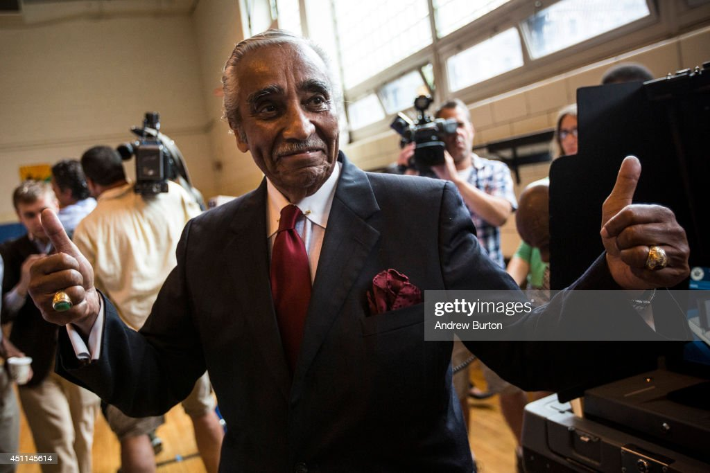 Charles Rangel Votes In Primary Election