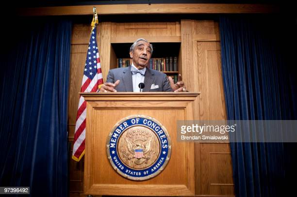 Rep Charlie Rangel speaks during a news conference on Capitol Hill March 3 2010 in Washington DC Rep Charlie Rangel announced he is temporarily...