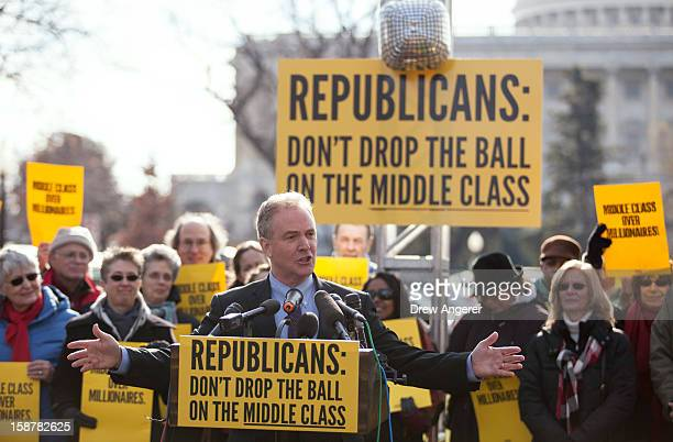 """Rep. Chris Van Hollen speaks during a press conference on the """"fiscal cliff"""" sponsored by the group """"Join the Action"""" on Capitol Hill December 28,..."""
