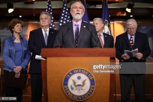 Rep Dan Newhouse is joined by fellow Republican members of congress Rep Susan Brooks Rep Peter King Rep Fred Upton and Rep Joe Barton during a news...