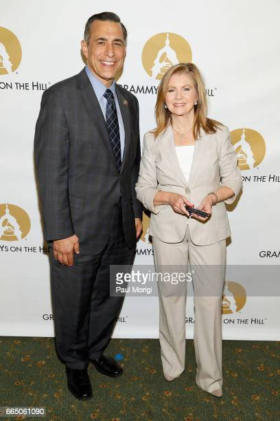 Rep Darrell Issa and Rep Marsha Blackburn at The Recording Academy®'s 2017 GRAMMYs on the Hill® Awards on April 5 to honor fourtime GRAMMY® winner...