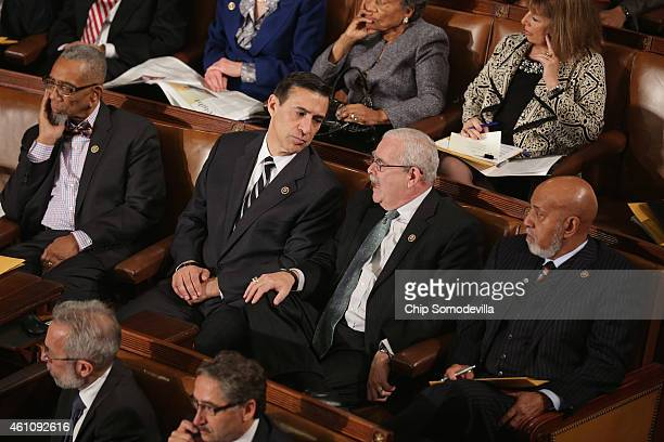 Rep Darrell Issa joined Democratic members of the House of Representatives Rep Bobby Rush Rep Gerry Connolly and Rep Alcee Hastings during the...