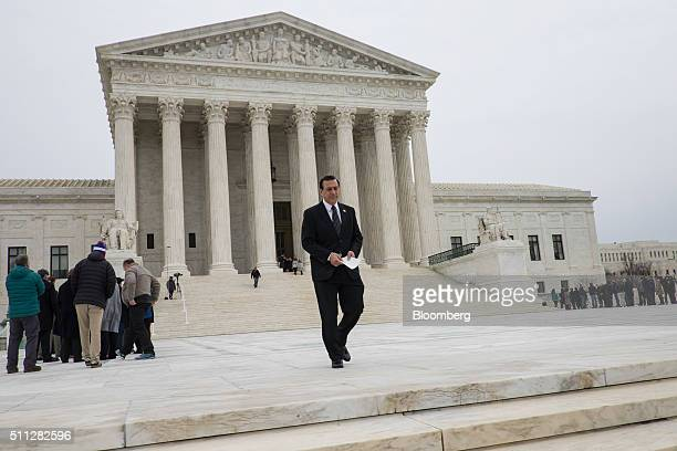 Rep Darrell Issa leaves the Supreme Court after paying his respects to associate Justice Antonin Scalia in Washington District of Columbia US on...