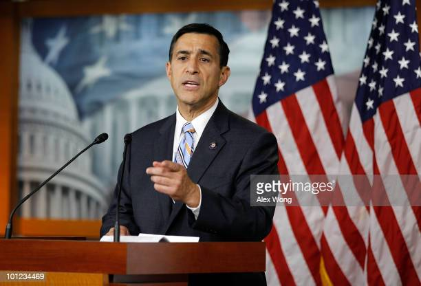 S Rep Darrell Issa speaks to the media during a news conference May 28 2010 on Capitol Hill in Washington DC Issa spoke on the allegation about the...