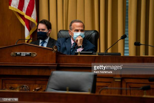 Rep. David Cicilline during a House Judiciary Subcommittee on Antitrust, Commercial, and Administrative Law hearing on regulation and competition in...