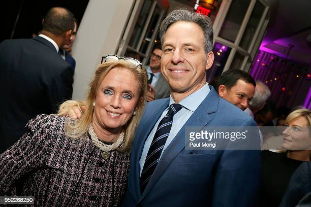 Rep Debbie Dingell and Jake Tapper attend the United Talent Agency White House Correspondence Dinner PreParty at Fiola Mare on April 27 2018 in...