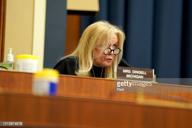 Rep. Debbie Dingell asks questions to Dr. Richard Bright, former director of the Biomedical Advanced Research and Development Authority, during a...