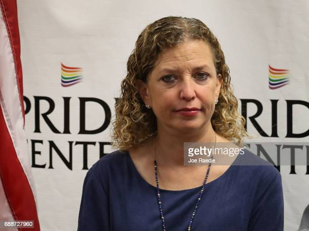 Rep Debbie Wasserman Schultz attends a discussion about LGBT rights at the Pride Center on May 26 2017 in Wilton Manors Florida The discussion...