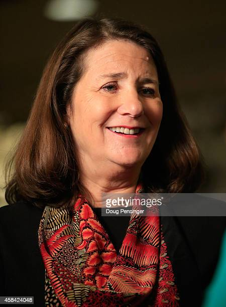 S Rep Diana DeGette conducts an interview with the media at a Democratic Party election night event at the Westin Denver Downtown Hotel on November 4...