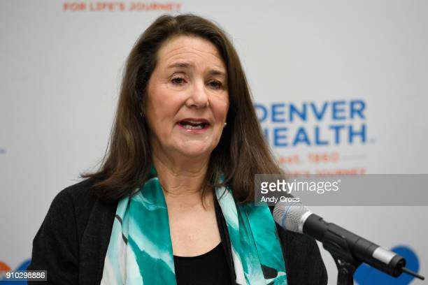 S Rep Diana DeGette discusses funding for community health centers during press conference at the Denver Health Sam Sandos Westside Health Center...