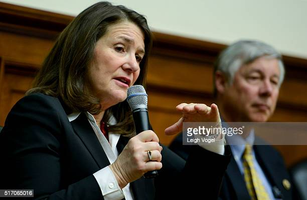 Rep Diana DeGette speaks during A Conversation on Child Cures at Rayburn House Office Building on March 23 2016 in Washington DC