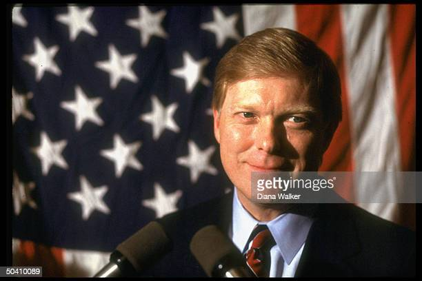 Rep Dick Gephardt making 1988 Democratic presidential primary campaign appearance