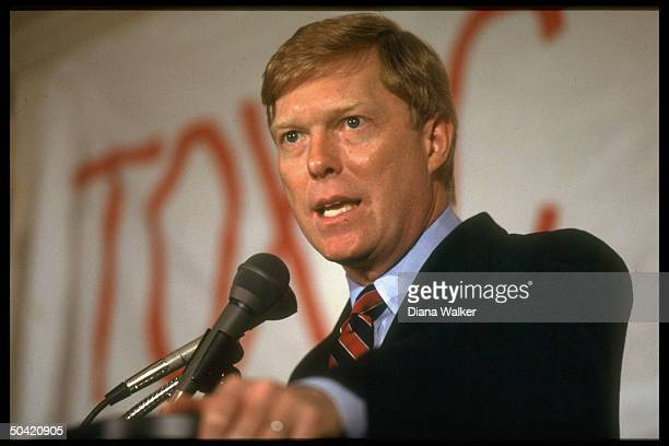 Rep Dick Gephardt speaking during his campaign for 1988 Democratic presidential nomination