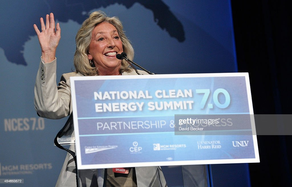 U.S. Rep. Dina Titus (D-NV) speaks at the National Clean Energy Summit 7.0 at the Mandalay Bay Convention Center on September 4, 2014 in Las Vegas, Nevada.