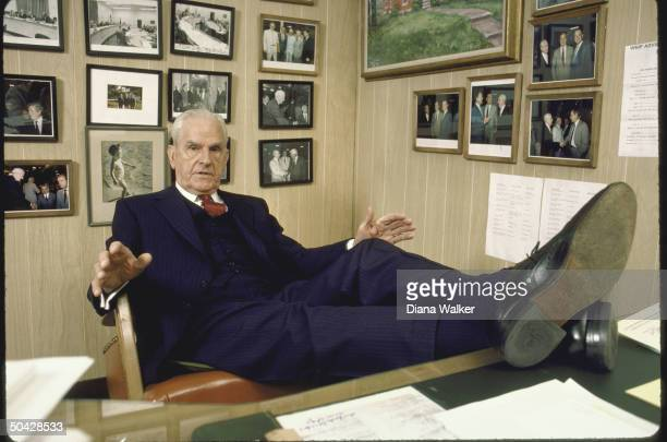 Rep. D-Ky. William H. Natcher, sitting at his desk.