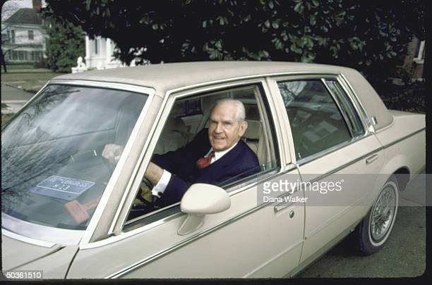 Rep. D-Ky. William H. Natcher, sitting in his car.