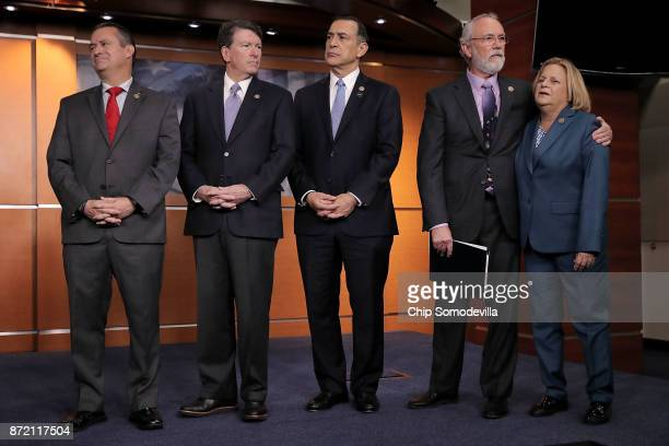 Rep Don Bacon Rep Scott Taylor Rep Darrell Issa Rep Dan Newhouse and Rep Ileana RosLehtinen hold a news conference about the Deferred Action for...