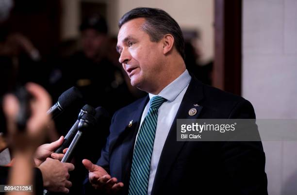 Rep Don Bacon RNeb leaves the House Republicans' meeting in the House Ways and Means Committee hearing room on the Republicans' tax reform plan on...