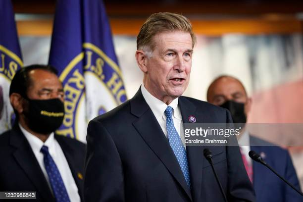 May 18: Rep. Don Beyer, D-Va., speaks during a news conference on the COVID-19 Hate Crimes Act in Washington on Tuesday, May 18, 2021.