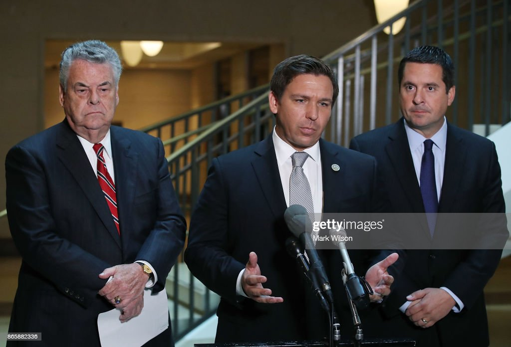 Rep. Devin Nunes Makes Announcement On House Intelligence Cmte Activities : News Photo