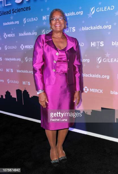 Rep Donna Christensen attends the Black AIDS Institute's 2018 Heroes in The Struggle Gala at California African American Museum on December 01 2018...