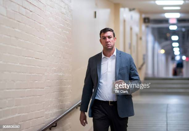Rep Duncan Hunter RCalif arrives for the House Republican Conference meeting in the Capitol on Monday Jan 22 2018