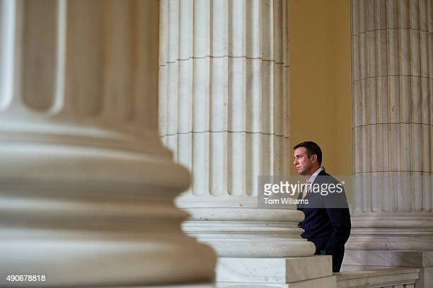 Rep Duncan Hunter RCalif is interviewed by a television crew in the Cannon rotunda September 30 2015