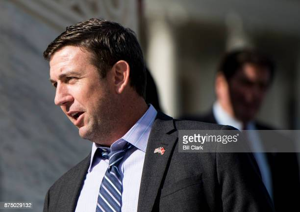 Rep Duncan Hunter RCalif walks down the House steps at the Capitol following passage of tax reform on Thursday Nov 16 2017