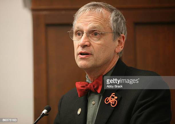 S Rep Earl Blumenauer attends Phil Keoghan's Ride Across America Presented by GNC Live Well at the Cannon Building on May 4 2009 in Washington DC