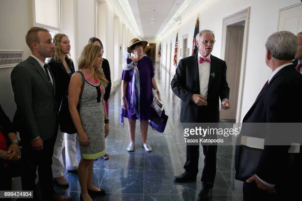 Rep Earl Blumenauer meets with doctors and students of the American Optometric Association on Capitol Hill on June 21 2017 in Washington DC