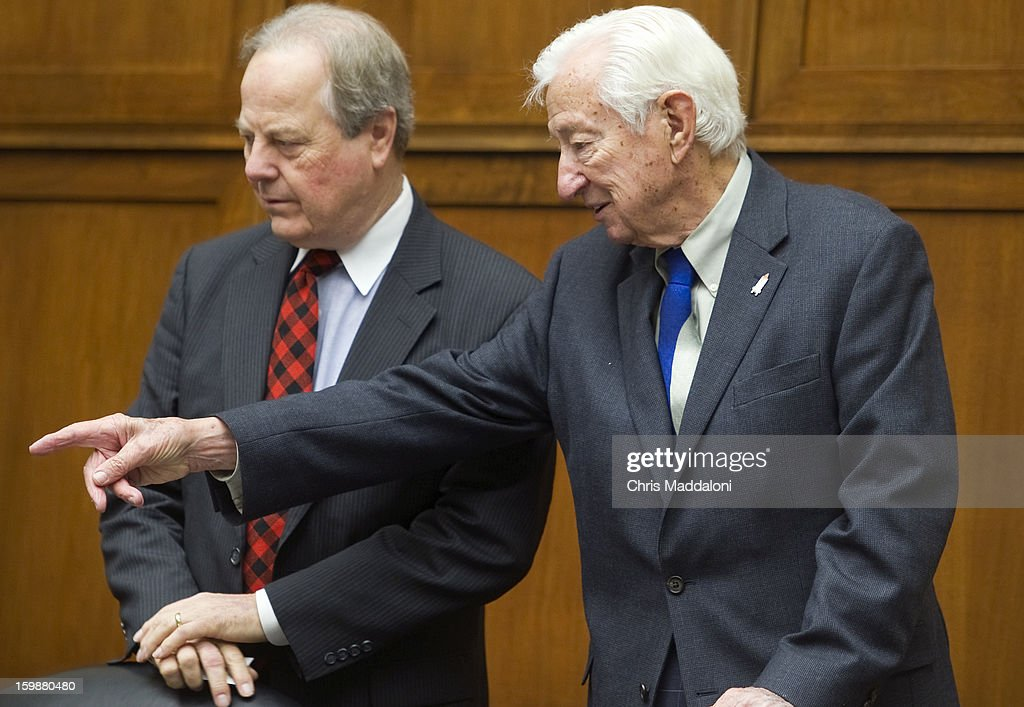 Rep. Ed Whitfield, R-Ky., and Rep. Ralph Hall, R-Tex., at a House Energy and Commerce Committee meeting. It is the first formal organizational meeting of the committee for the 113th Congress.
