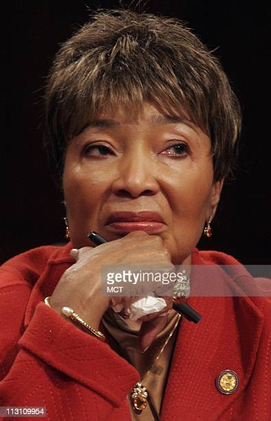US Rep Eddie Bernice Johnson testifies November 10 at a US Senate hearing on the Wright Amendment which restricts flights out of Love Field in Dallas