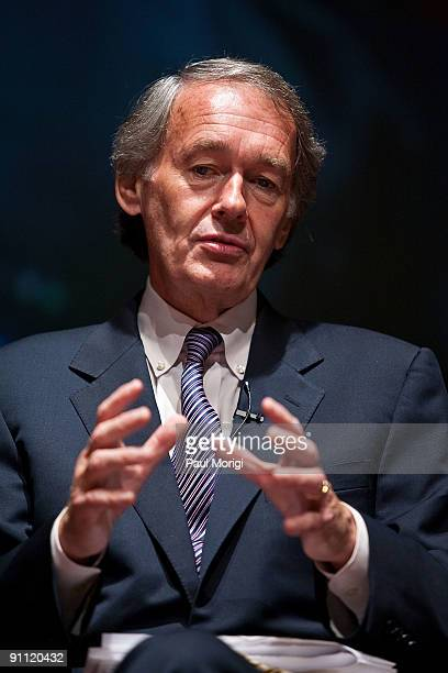 Rep Edward Markey on a panel discussion at Rock Stars of Science sponsored by Geoffrey Beene Foundation ResearchAmerica to engage heath and medicine...