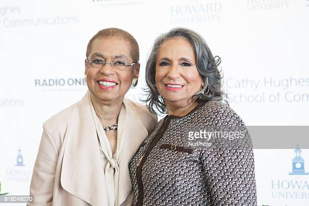 Rep Eleanor Holmes Norton and Ms Cathy Hughes In the Blackburn Center Ballroom on the campus of Howard University in Washington DC USA on 25 October...