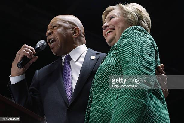 S Rep Elijah Cummings announced his endorsement of Democratic presidential candidate Hillary Clinton during a campaign rally at City Garage April 10...