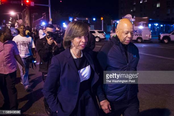 S Rep Elijah Cummings DMd and State Sen Catherine E Pugh left DBaltimore leave to go home after asking people to go home just after the 10 pm curfew...