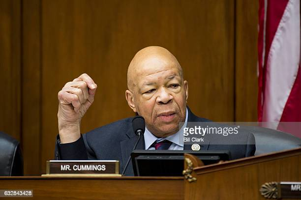 Rep Elijah Cummings DMd at the House Oversight and Government Reform Committee meeting to organize for the 115th Congress on Tuesday Jan 24 2017