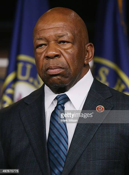 Rep Elijah E Cummings participates in a news conference on Capitol Hill May 21 2014 in Washington DC House Minority Leader Pelosi named Cummings and...