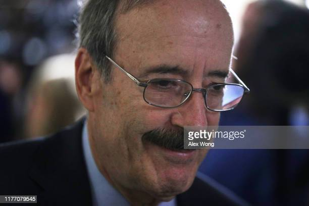 S Rep Eliot Engel arrives at a House Democratic Caucus meeting at the US Capitol September 25 2019 in Washington DC House Democrats met to discuss...