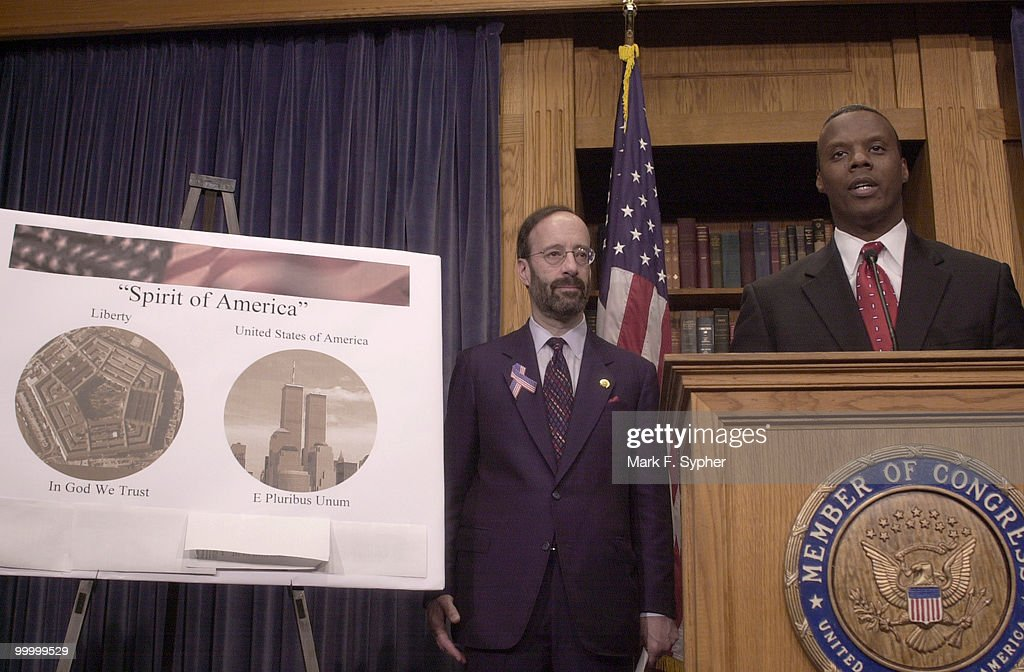 Rep. Eliot L. Engel (D-N.Y.) and Rep. J.C. Watts Jr. (R-Okla.) make bypartisan moves to quickly produce a coin that will be designed by the Treasury Dept. commerating the tragedy of September 11, 2001.