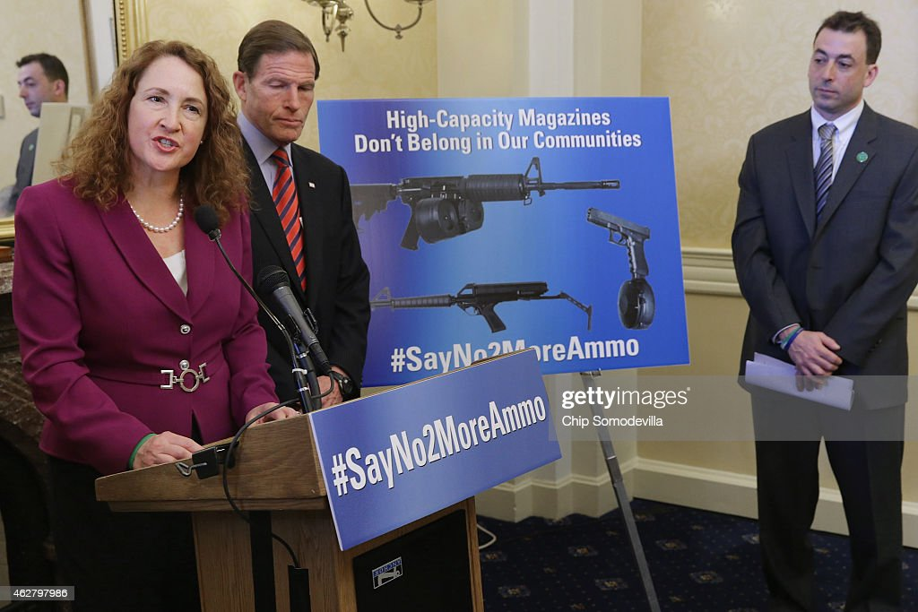 Senate And House Democrats Unveil New High-Capacity Magazine Gun Control Legislation : News Photo