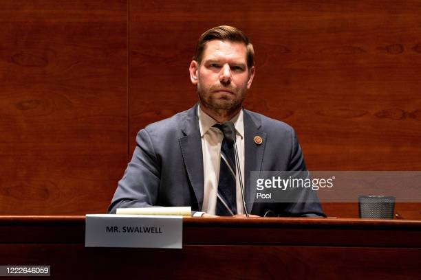 S Rep Eric Swalwell attends a hearing of the House Judiciary Committee on at the Capitol Building June 24 2020 in Washington DC Democrats are...