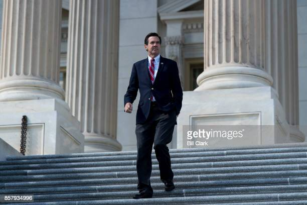 Rep Evan Jenkins RWVa walks down the House steps after the last votes of the week on Thursday Oct 5 2017
